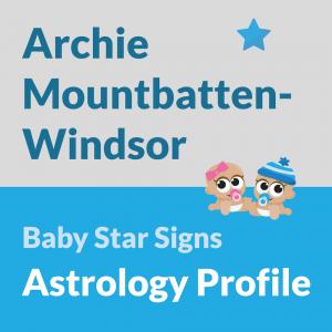Archie Mountbatten-Windsor - Astrology Profile